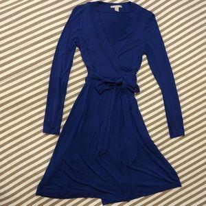 Royal Blue Banana Republic Wrap Dress
